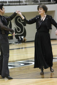 Teacher competes in Randall's version of Dancing with the Stars