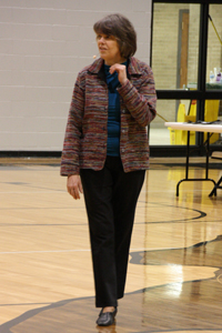 Rights activist speaks to local students